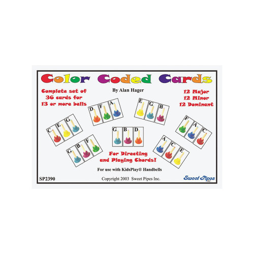 Handbell Chord Cards, 36-Chords, 20-Notes