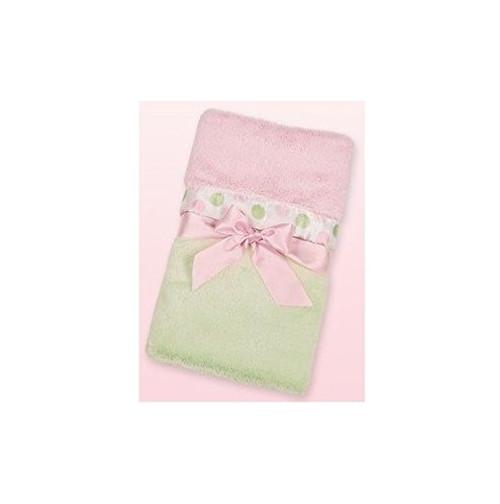 Posh Dots Crib Blanket (Green) by Bearington Baby