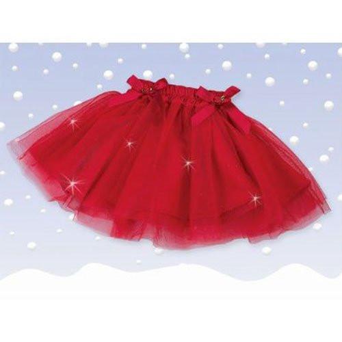 Bearington Sparkling Red Christmas Tutu (12-24 Months)