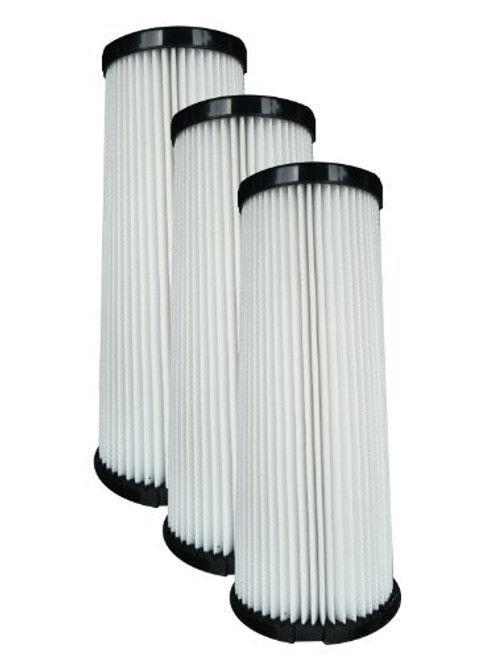 (3) Dirt Devil F1 Bagless Upright Vision Pleated HEPA filter, Breeze, Featherlite, Jaguar, Kinetix self Propelled, Scorp
