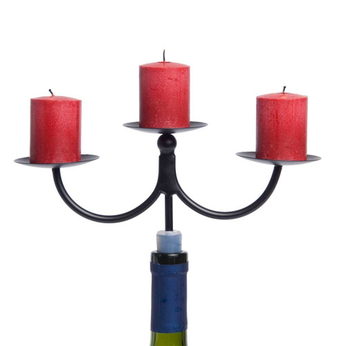 Oenophilia Afterglow Bottle Candelabra - 3 Small Pillars
