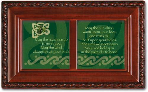 Irish Road Celtic Petite Woodgrain Music Jewelry Box Plays When Irish Eyes are Smiling
