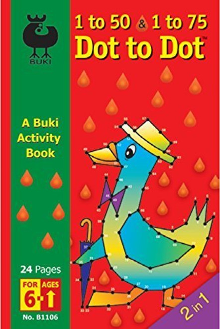 Buki 1-50 & 1-75 Dot to Dot Activity Book