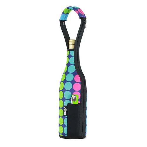 Oenophilia Neo Wine Bottle Tote, Dots