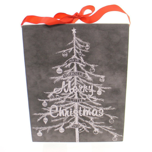 Christmas MERRY CHRISTMAS CHALK SIGN Wood Wall Decor Tree Holiday 23681
