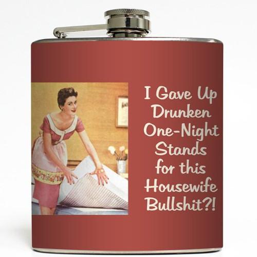Housewife Bullshit - Liquid Courage Flasks - 6 oz. Stainless Steel Flask