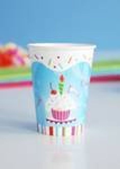 Birthday Party Paper Cups, Set of 6