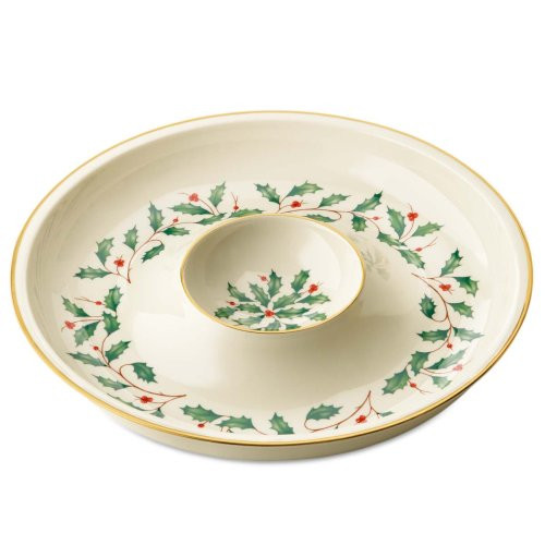 Lenox Holiday Chip and Dip