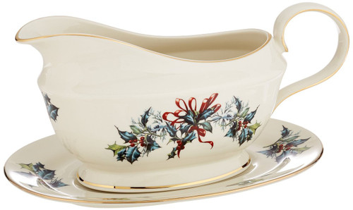 Lenox Winter Greetings Sauce Boat & Stand