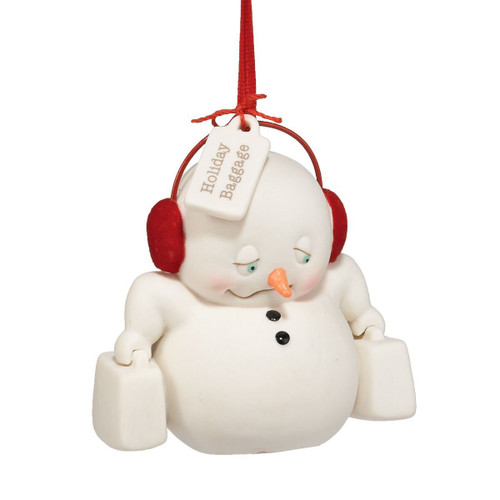 Department 56 Snow Pinions Holiday Baggage Ornament, 3-Inch