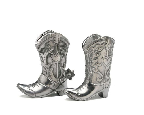 Arthur Court Cowboy Boot 2-Piece Salt and Pepper set