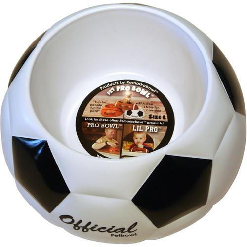 Remarkabowl Pet-Pro Soccerbowl Pet Food Dish Soccer, Medium