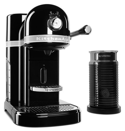 Nespresso KitchenAid Espresso Maker with Aeroccino 3 Milk Frother