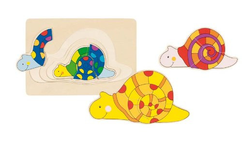 "Wooden Snail Puzzle 7"" by Goki"