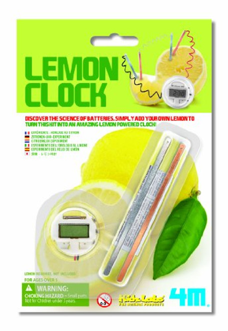 4M Lemon Powered Clock