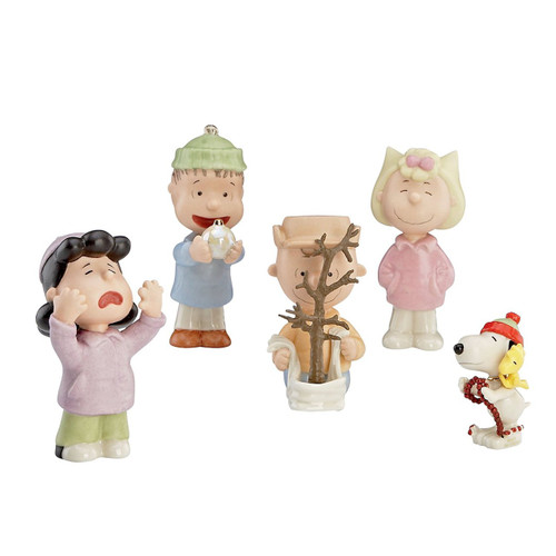 Lenox 5-Piece That's What Christmas is All About Charlie Figurine, Brown