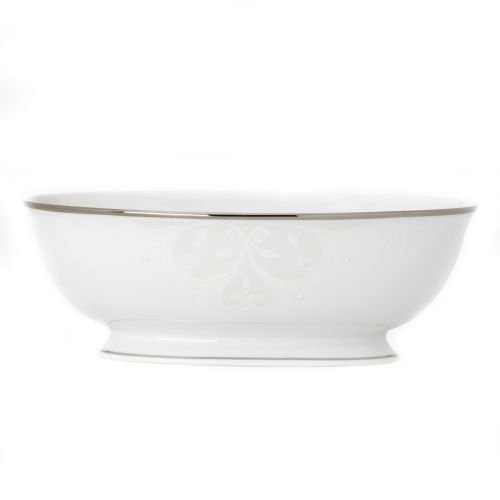 "Opal Innocence Scroll Open 9.5"" Vegetable Bowl"