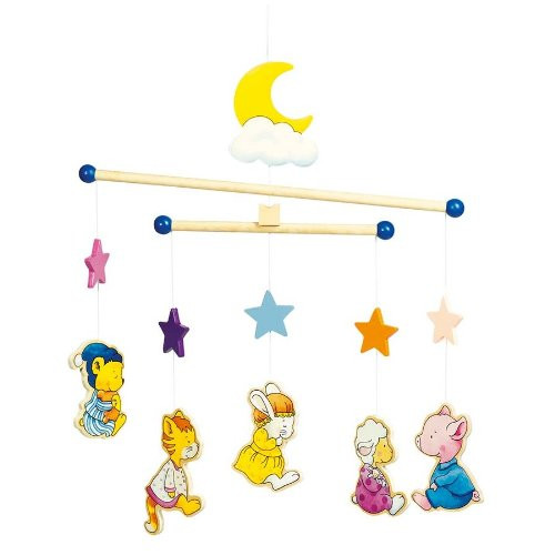 Pyjama Animals Wooden Ceiling Mobile