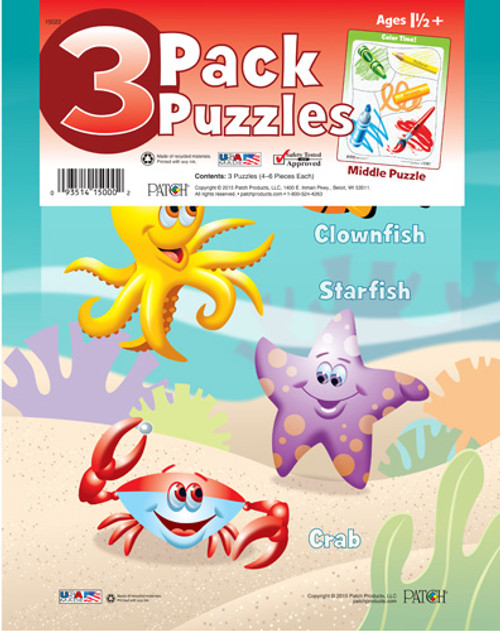 3 Pack, Pre-school Puzzles