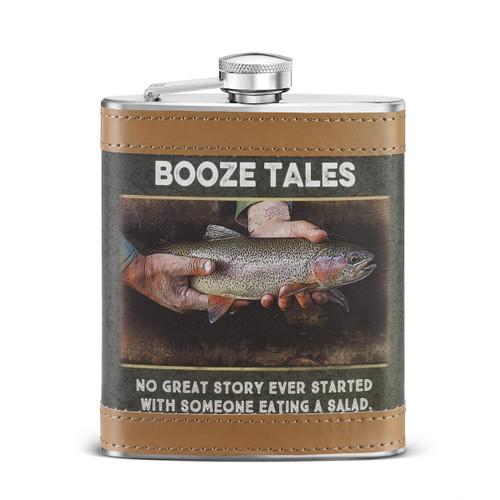 Big Sky Carvers Booze Tales Flask, Multicolor