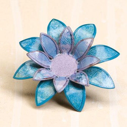 Kelly Rae Roberts Blue Flower Clip Ornament * Demdaco Decor