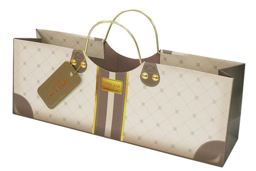 Revel Paper 3182 Mocha Wine Purse Single Bottle Paper Bag, Brown