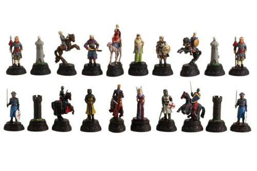 Crusade Metal Chessmen, White