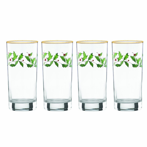 Lenox Holiday Hiball Glasses, Set of 4