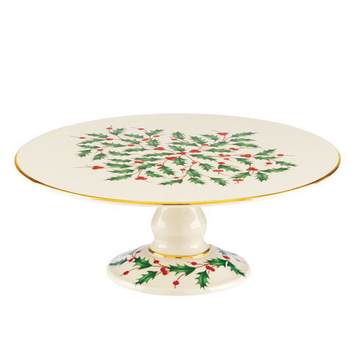 Lenox Holiday Footed Cake Plate