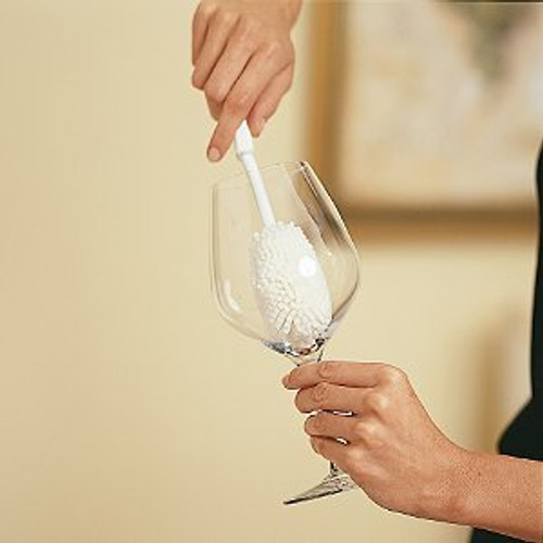 Wine Enthusiast Large Wine Glass Cleaning Brush