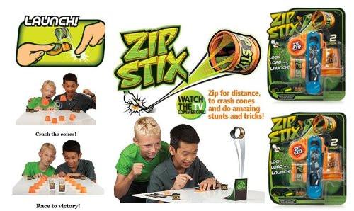 Zip Stix Dual Pack (Each pack has 2 ZipStix, 1 Launcher and 3 Crash Cones)