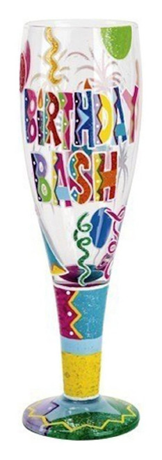 Lolita Glassware Birthday Bash Pilsner (PIL2-5534G), Multicolor