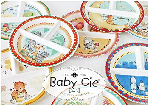 Baby Cie Dani Round Textured Sectioned Plate