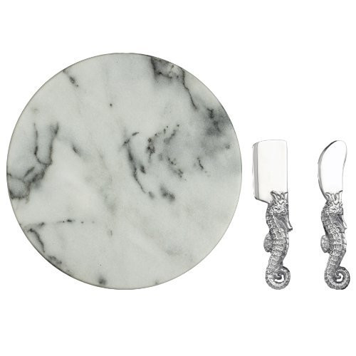Arthur Court Cheese Set with 12-Inch Marble