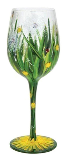 Lolita from Enesco Dandelion Wine Wine Glass, Multicolor