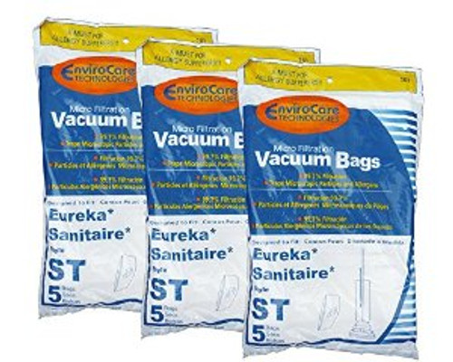 15 Eureka Sanitaire Type ST Vacuum Bags, Express, Power Team Canister, Home Cleaning System Vacuum Cleaners, 63213, 6321