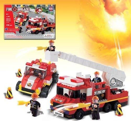 Fire Engine & Road Car - Building Set by Brictek (11309)