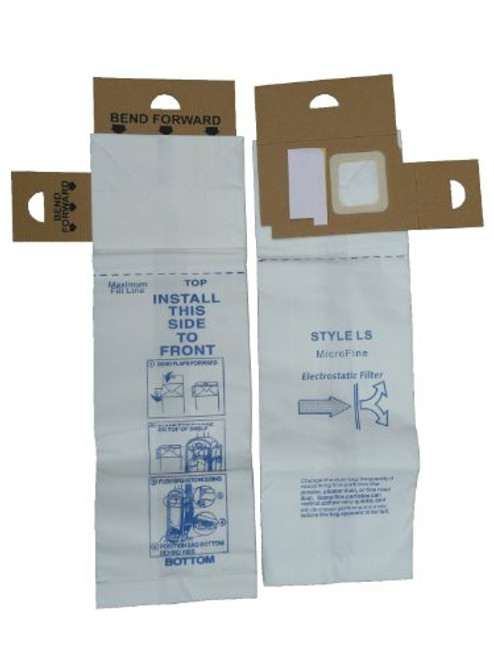 12 Eureka Type LS Sanitaire Vacuum Bags, LiteSpeed Upright, Bagged, Boss Signature Genesis, Refurb Powerline Limited, Sa