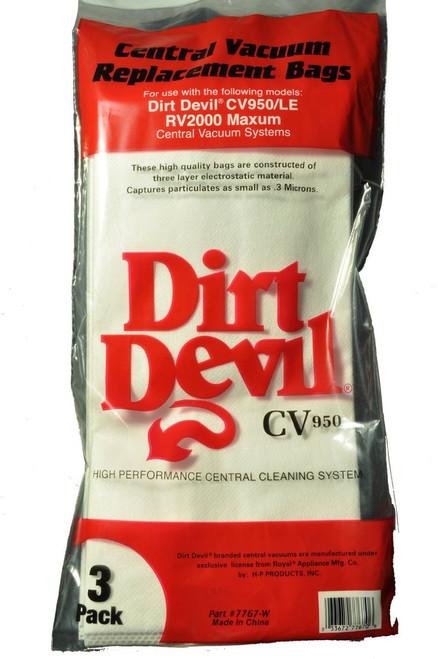Dirt Devil CV950, CV950LE, RV2000 Maxum Central Vac Bags