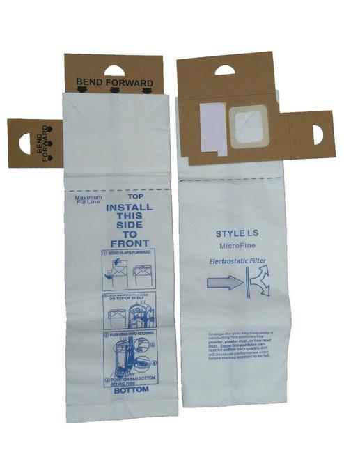 6 Eureka Type LS Sanitaire Vacuum Bags, LiteSpeed Upright, Bagged, Boss Signature Genesis, Refurb Powerline Limited, San