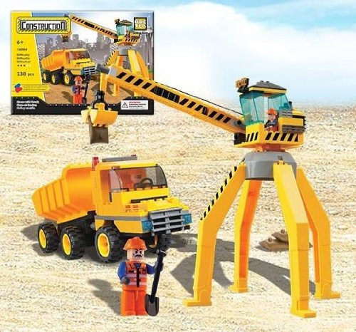 Brictek Crane With Truck Building Kit