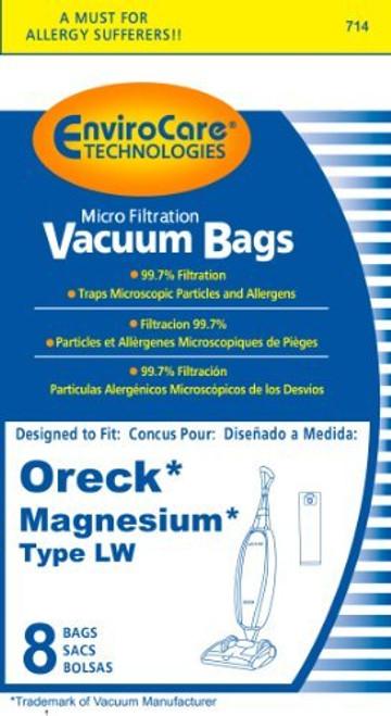 Oreck Magnesium Vacuum Bags, Type LW 8 Pack by EnviroCare