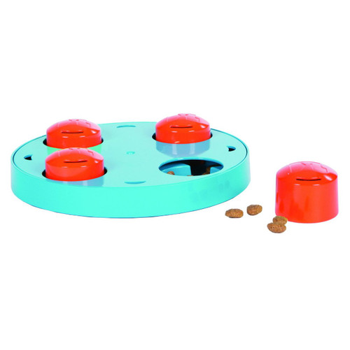 Outward Hound Kyjen  41013 Treat Wheel Mini Treat Toy Dog Toys Scent Puzzle Training Toy, Small, Blue
