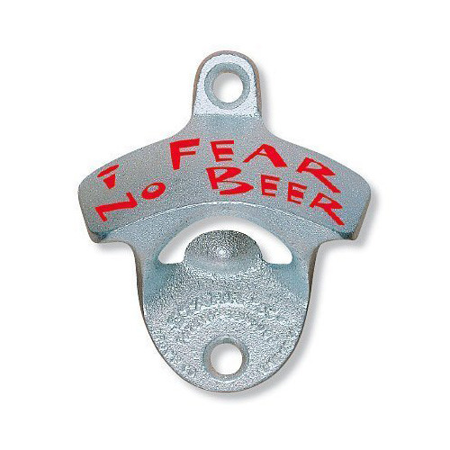 1 X I Fear No Beer Starr X Wall Mount Bottle Opener