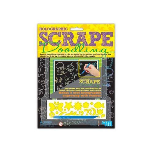 4M Holographic Scrape Doodling Kits