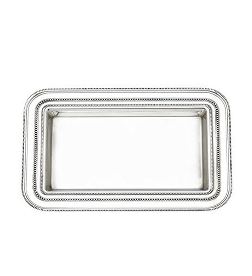 Heritage Banded Bead Platter Size: Small