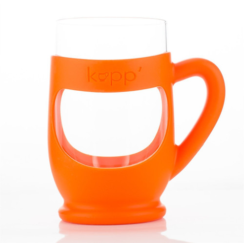 Kupp' Glass Drinking Cup for Kids Orange