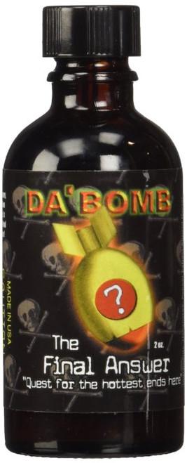 Da'Bomb The Final Answer Hot Sauce, 2-Ounce Glass Bottle