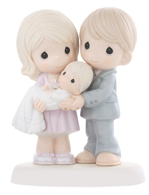 """Precious Moments, Baptism Gifts, """"Grow In The Light Of His Love"""", Bisque Porcelain Figurine, #830014"""