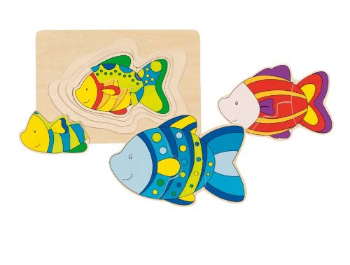 "Wooden Fish Puzzle 7"" by Goki"